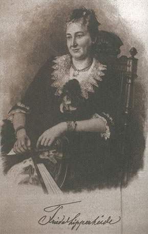 Frieda, Ehefrau von Franz Freiherr vo Lipperheide